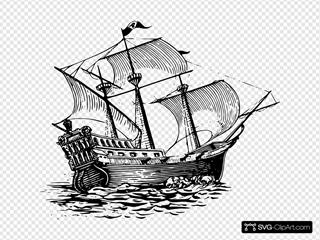 Galleon Sail Ship