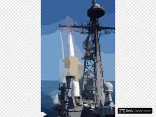 Uss Bunker Hill Fires Sm-2 Surface-to-air Missile