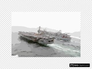 U.s. Navy Ships Conducting A Replenishment At Sea Operation.