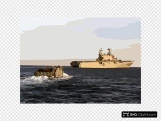 Landing Craft Utility One Six Five Four Returns To The Amphibious Assault Ship Uss Saipan.