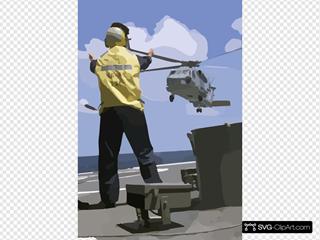 Sh-60b Leaves Deck Of Ship