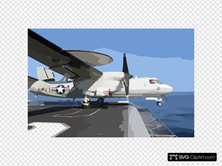 A E-2c Launches From One Of Four Steam-powered Catapults On The Ship S Flight Deck
