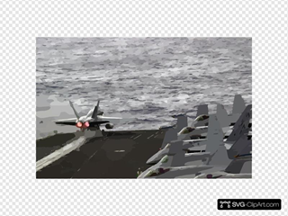 An Fa-18a Hornet  Launches From The Flight Deck.