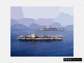 Uss Enterprise (cvn 65) & Uss Carl Vinson (cvn 70)