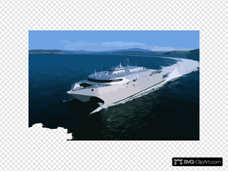 High Speed Vessel Two (hsv 2) Swift Is Participating In The West African Training Cruise