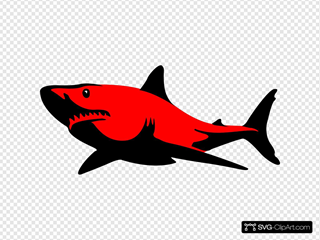 Red.shark SVG Clipart