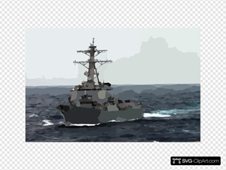 The Guided Missile Destroyer Uss Lassen (ddg 82) Underway In The Rough Seas Of The East China Sea
