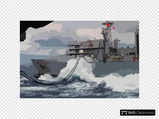 Usns Arctic (t-aoe 8) Transfers Fuel And Supplies To Uss George Washington (cvn 73)