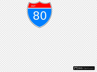 Interstate 80 Road Sign