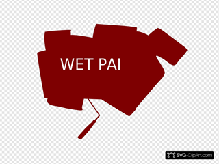 Wet Paint Sign With Website
