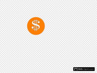 Orange Dollar Sign Clip art, Icon and SVG - SVG Clipart