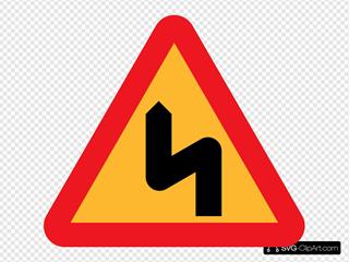 Zig Zag Road Sign