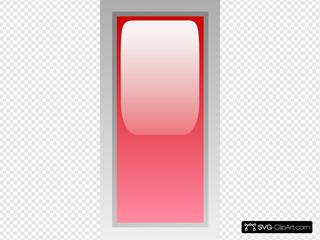 Led Rectangular V (red)