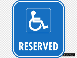 Reserved Disabled Parking Clipart