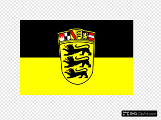 Baden Wurttemberg Flag And Coat Of Arms