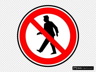 No Walking Pedestrians