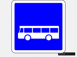 French Bus Road Sign