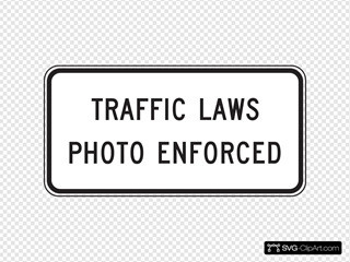 Traffic Laws Photo Enforced SVG Clipart