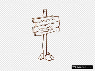 Sign Post SVG Clipart