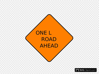One Lane Closed Ahead
