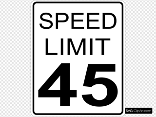 45mph Speed Limit Road Sign