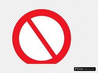 Empty Prohibited Sign