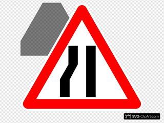 Road Merging Sign