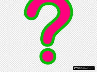 Pink/green Question Mark