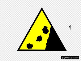 Falling Rocks Yellow