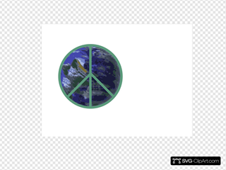 Peace With Earth SVG Clipart