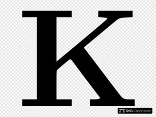 Cyrillic Letter K