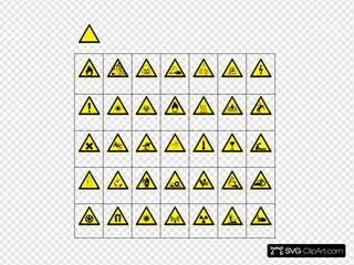 Sign Hazard Warning