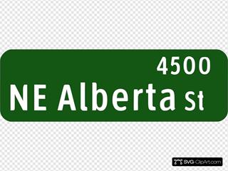 Ne Alberta Street Sign