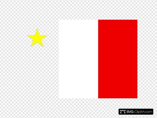 Flag Of Acadia Canada