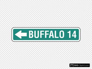 Freeway Buffalo Direction Sign
