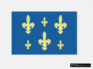 Historic French Royal Navy Flag