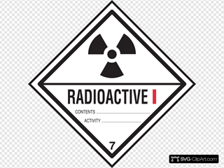 Radioactive Contents Warning Label