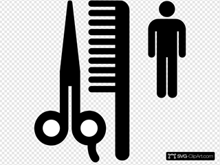 Barbershop Sign SVG Clipart