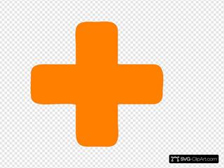 Orange Plus Sign