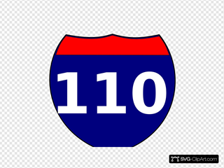 Interstate Sign I 110