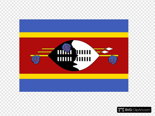 Flag Of Swaziland SVG Clipart