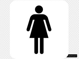 Woman Bathroom Bw W/o Boarder