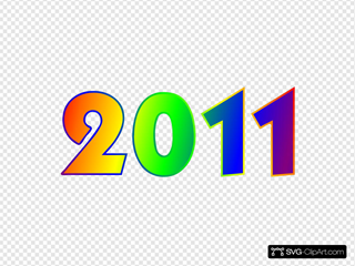 2011 Rainbow Sign