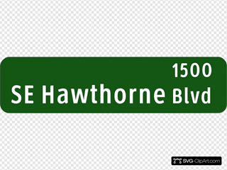 Se Hawthorne Blvd Sign