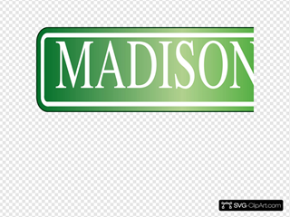 Party Street Sign For Madison