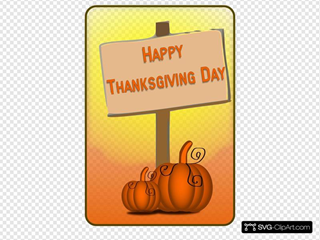 Happy Thanksgiving Day Sign