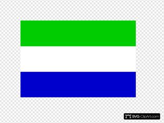 Flag Of The Republic Of Sierra Leone