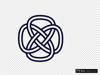 Celtic Knot Navy