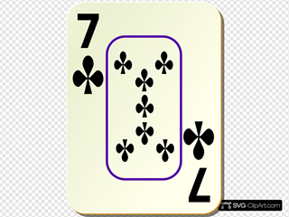 Bordered Seven Of Clubs