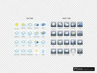 Wetter Symbole SVG Clipart
